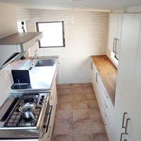 白いキッチン 対面キッチン